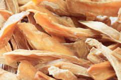 Getrocknete geschnittene Mangofrucht. Ökologische Nahrung. Lizenzfreies Stockfoto