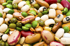 Getrocknete Hülsenfrüchte und Getreide Stockbilder