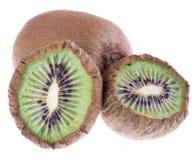 Getrocknete Kiwifrüchte auf Weiß Lizenzfreie Stockbilder
