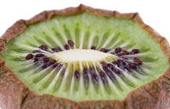 Getrocknete Kiwifrüchte auf Weiß Stockbild