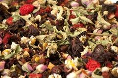 Getrocknete Kraut-und Blumen-Beschaffenheit stockfoto