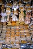 Getrocknete Meeresfrüchte für Verkauf Stockfotos