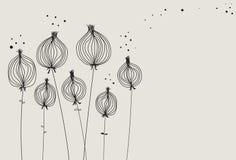 Getrocknete Mohnblume geht Hintergrund voran Lizenzfreie Stockfotografie