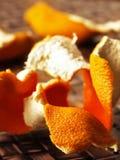 Getrocknete orange Schale Stockbild