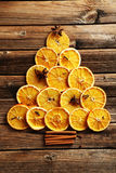 Getrocknete orange Scheiben Stockbilder