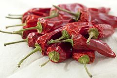 Getrocknete Paprika-Pfeffer Stockbilder