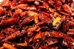 Getrocknete Pfeffer der roten Paprikas Lizenzfreie Stockfotos
