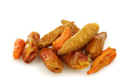 Getrocknete Pfeffer des roten Paprikas (spanischer Pfeffer) Stockbild