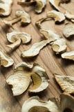 Getrocknete Pilze, nicht traditionele Medizin und Rauschgiften vertikal stockfoto