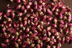 Getrocknete rosafarbene Knospen Stockbild
