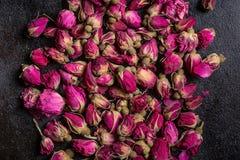 Getrocknete rosafarbene Knospen stockfoto