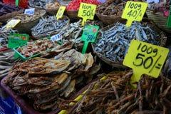 Getrocknete salzige Fische Stockfotos