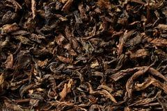 Getrocknete schwarze Teeblätter Stockfotos