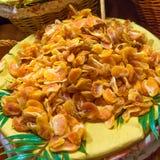 Getrocknete Tangerine, Mandarine geschnitten stockbild