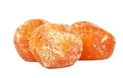 Getrocknete Tangerine trägt Nahaufnahme Früchte Stockfoto
