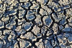 Getrocknete und gebrochene Erde Stockbild