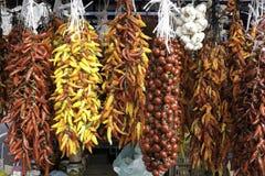 Getrocknete Veggies auf einem Markt Lizenzfreie Stockfotos