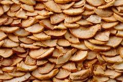 Getrockneter Apfel-Hintergrund Stockbilder