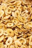Getrockneter Bananen-Hintergrund Lizenzfreie Stockfotos