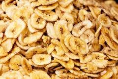 Getrockneter Bananen-Hintergrund Stockbilder