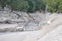 Getrockneter Fluss Stockbild