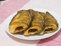 Getrockneter Fried Snake Skin Gourami Fish, Thailand-Anruf Lizenzfreie Stockfotos