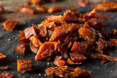 Getrockneter geräucherter Salmon Jerky stockbild