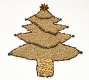 Getrockneter Gewürz-Weihnachtsbaum Stockfoto