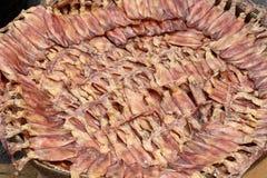 getrockneter Kalmar am Markt stockfotos