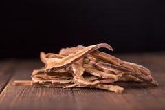 Getrockneter lingzhi Pilz u. x28; Auch genannt als Reishi-Pilz in Japan Stockbilder