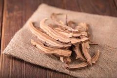 Getrockneter lingzhi Pilz u. x28; Auch genannt als Reishi-Pilz in Japan Lizenzfreie Stockfotos