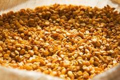 Getrockneter Mais in einer Tasche Lizenzfreies Stockbild