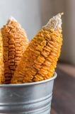 Getrockneter Mais-Stiel im Eimer stockfotos