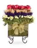 Getrockneter Rosen und Blumen Topiary-Blumenstrauß Lizenzfreies Stockbild