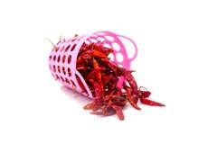 Getrockneter roter Paprika lizenzfreie stockfotografie