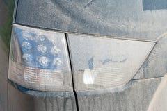 Getrockneter Schlamm auf dem Rücklicht mit geführter Lampe Lizenzfreies Stockbild