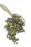 Getrockneter Tee lokalisierter weißer Hintergrund Stockfoto