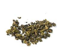 Getrockneter Tee lokalisierter weißer Hintergrund Lizenzfreies Stockbild