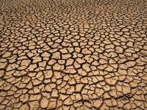 Getrockneter und gebrochener Boden Stockbild
