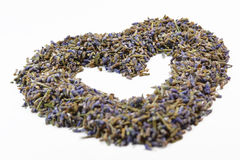 Getrocknetes Lavendelherz Lizenzfreie Stockfotografie