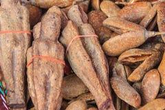Getrocknetes Nariphon trägt für Verkauf am Amulettmarkt, Thailand Früchte T lizenzfreie stockfotografie