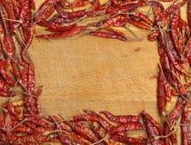 Getrocknetes rotes Paprika-Feld stockfoto