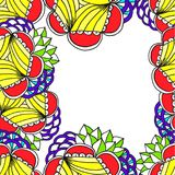 Getrokken abstracte geometrische grens op een witte achtergrond Royalty-vrije Stock Foto
