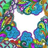 Getrokken abstracte geometrische grens op een witte achtergrond Royalty-vrije Stock Foto's