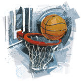 Getrokken Basketbal vector illustratie