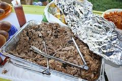 Getrokken BBQ van het Varkensvlees Stock Foto