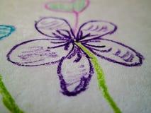 Getrokken bloem stock fotografie