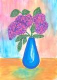 Getrokken bloemen Royalty-vrije Stock Afbeelding
