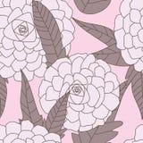 Getrokken Bloemen Naadloze Pattern_eps Stock Fotografie