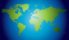 Getrokken de hand detailleerde hoogst wereldkaart Royalty-vrije Stock Afbeelding